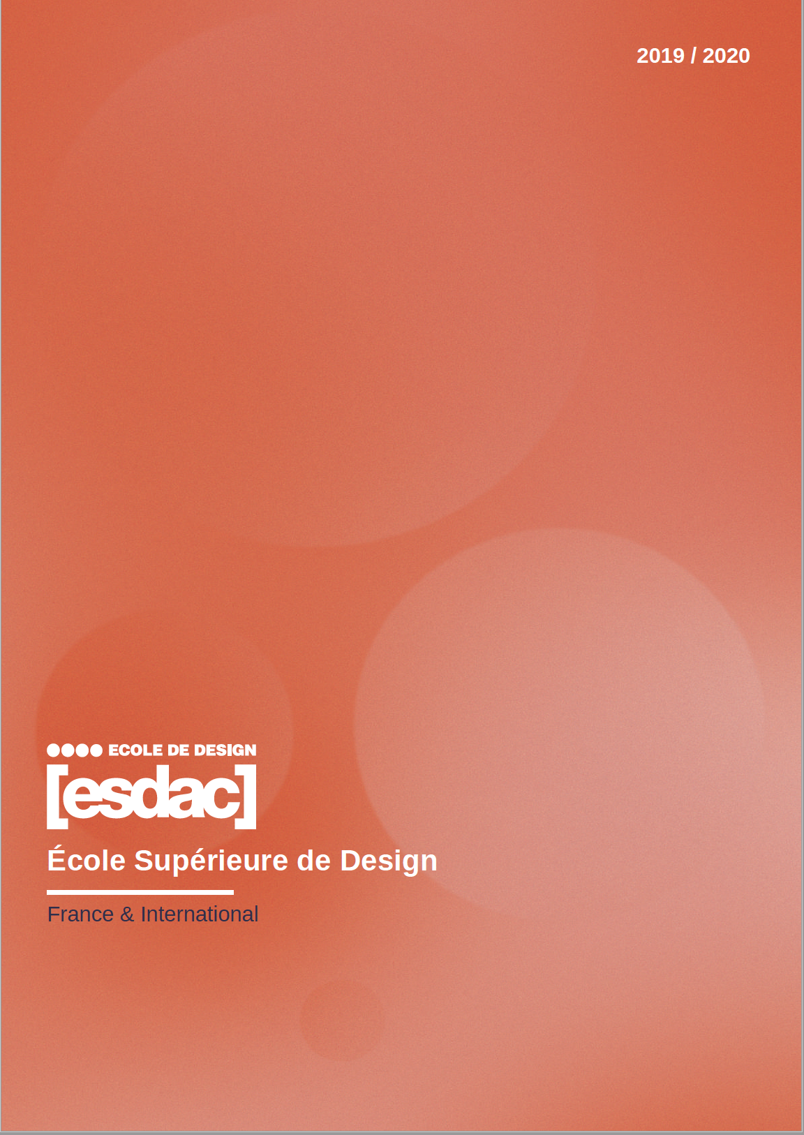 Télécharger la brochure de l'école ESDAC