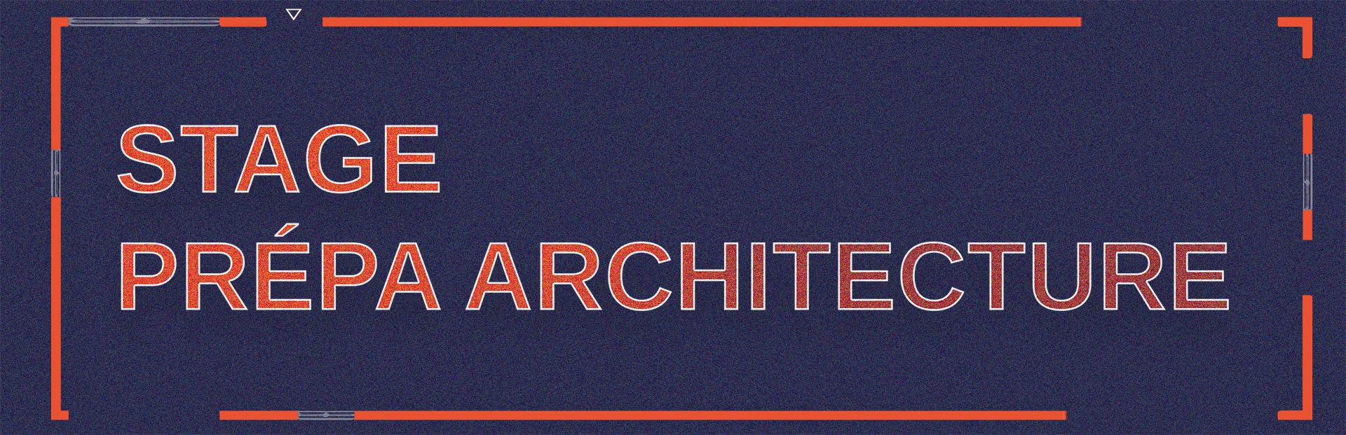 Stage prépa Architecture à l'école de design ESDAC