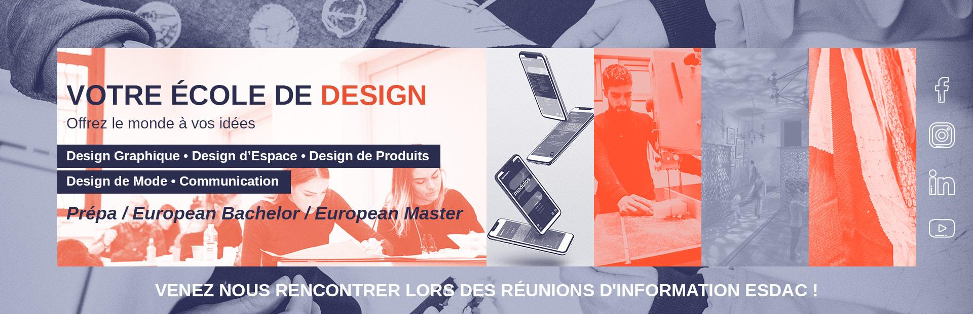 École de design ESDAC en France