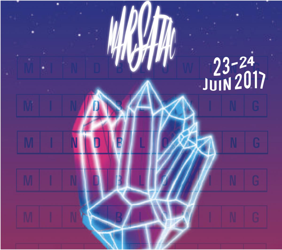 Affiche et identité du festival Marsatac avec les élèves de design graphique à l'école ESDAC Marseille