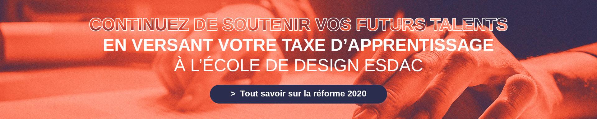 Versez la taxe d'apprentissage à l'école de design ESDAC Aix-en-Provence