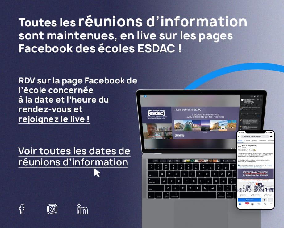 Réunion d'information à l'école de design ESDAC