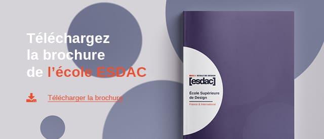 Téléchargement de brochure de l'école de design ESDAC 2020/2021