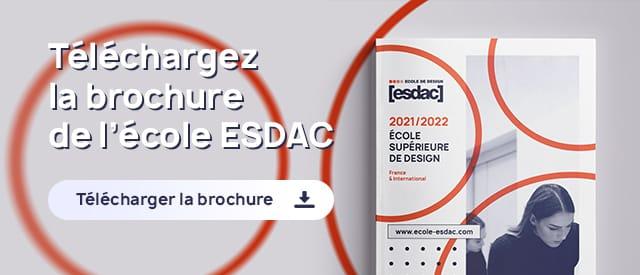 Téléchargement de brochure de l'école de design ESDAC 2021/2022