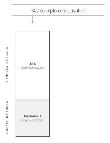Schéma des études à l'école de design ESDAC