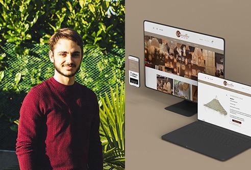 Florian Pioli, ancien étudiant en design graphique à l'ESDAC