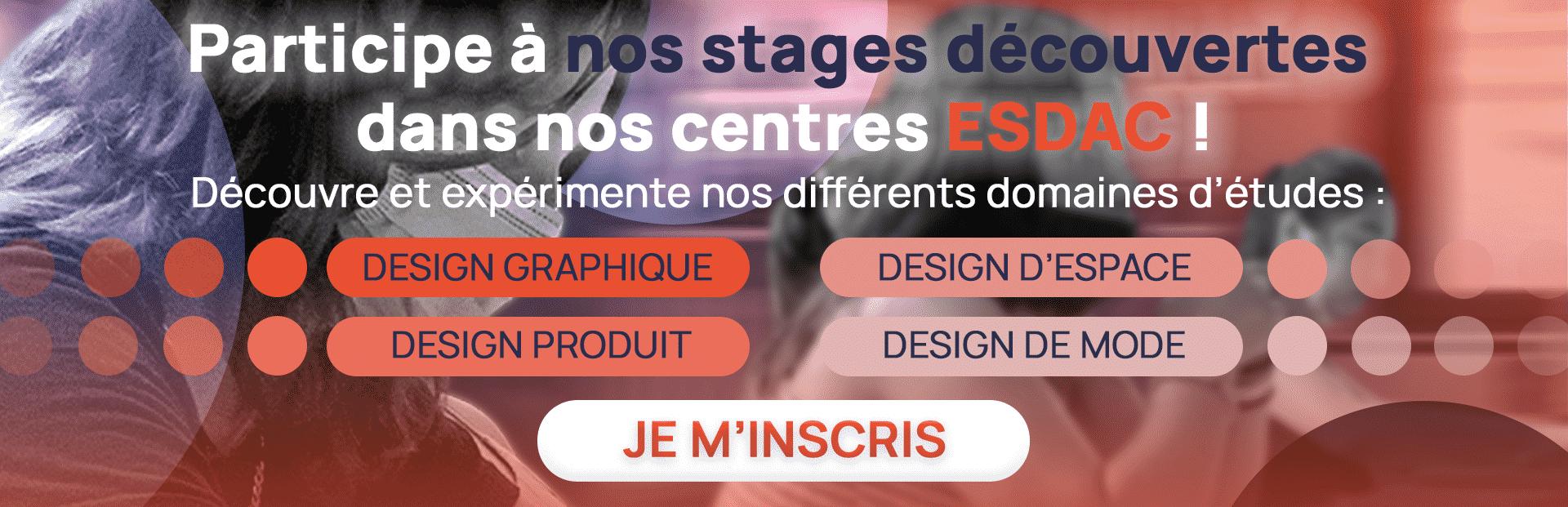 Stage découverte Dessin et design à l'école de design ESDAC